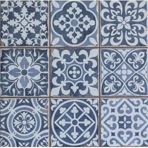 Carrelage ancien mat bleu 33 x 33 cm fs1104006 for Europe carrelage