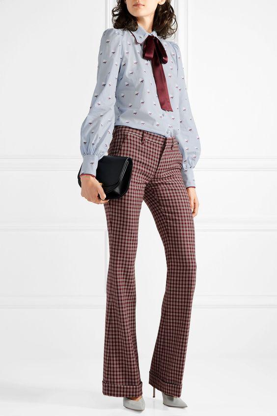 Marc Jacobs | Pussy-bow fil coupé cotton blouse | NET-A-PORTER.COM