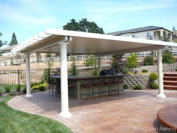 Patio google search and google on pinterest for Detached covered patio plans