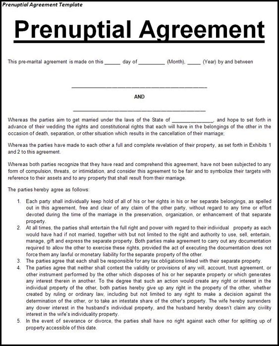 This agreement is recommended for any couple entering into a - marriage contract