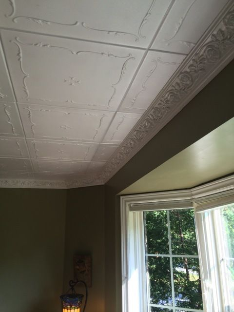 Spring Buds Glue Up Styrofoam Ceiling Tile 20 In X 20 In R 05