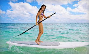 Just bought this Groupon - $29 for a Two-Hour Standup-Paddleboard Rental for Two from Hooked on SUP (70 dollar value) in On Location. Groupon deal price: $29.00  Fitness fun!