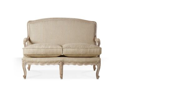 Swoon Editions Sofa, French style in striped beige - £549