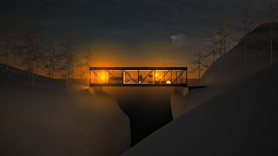 3D visualization : 1964 weekend house by Craig Ellwood