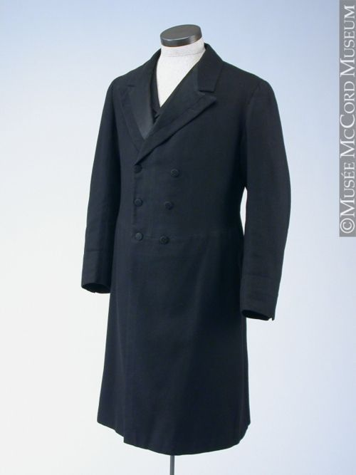 Frock coat ca. 1875-1900 via The McCord Museum