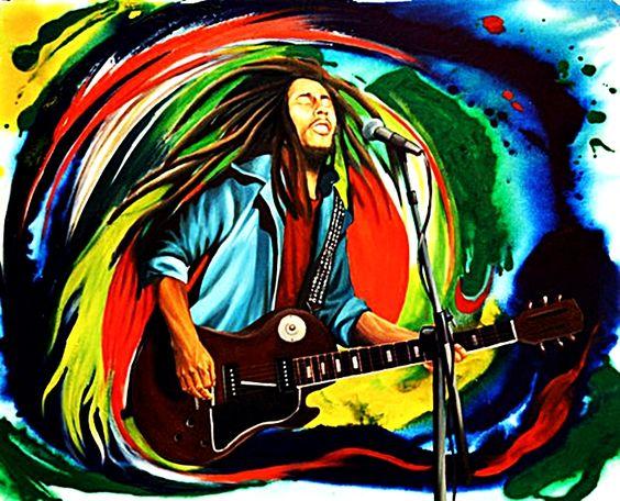 Arte psicod lico bobmarley music artwork musicart www - Cuadros bob marley ...