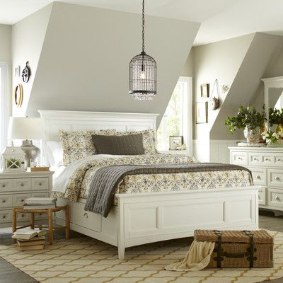For master bedroom - Birch Lane Tilton Panel Bed with Storage & Reviews | Wayfair grey or white;