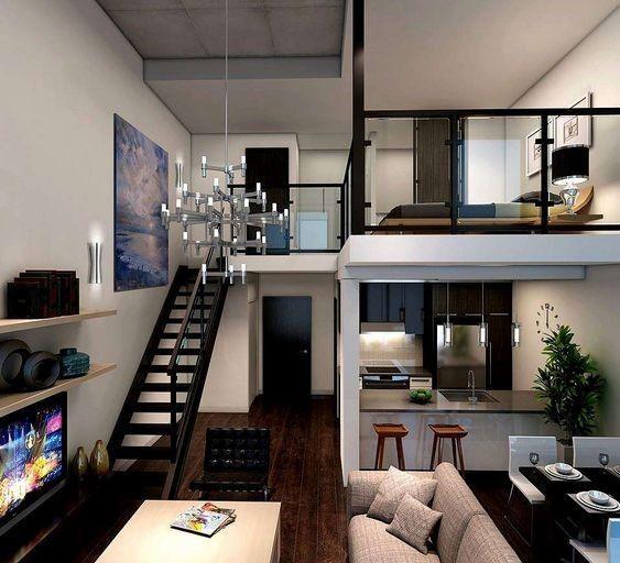 35 Amazing Apartment Decorating Ideas For Sweet Couples 2 Lingoistica Com Studio Apartment Decorating Loft Interiors Loft House