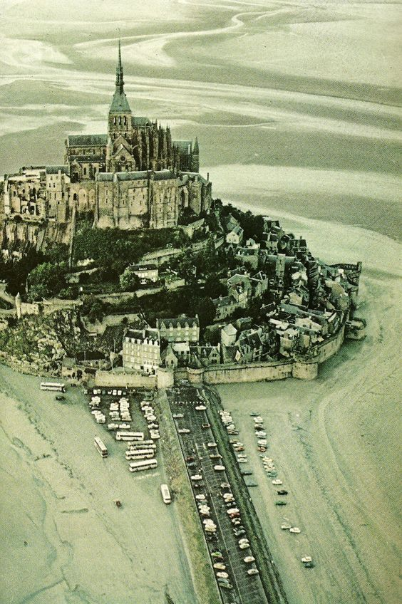 Mont Saint Michel off of the Normandy coast National Geographic | June 1977