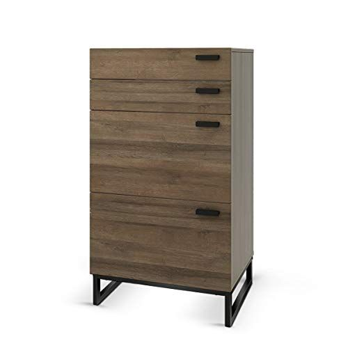 Wlive 4 Drawer High Dresser Drawer Chest Storage Cabinet With Steel Legs For Home Office In 2020 Dresser Drawers 4 Drawer Dresser Dresser Storage