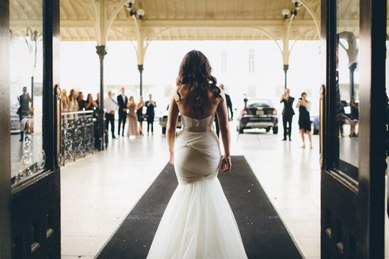 Me & Mr. Jones Wedding, First Look at Union Station Hotel, Bridal Portrait, Nashville Wedding, Watters Carina, Watters Amina, Bridal Separates