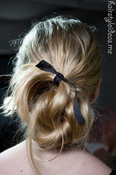 bun (pinned this from http://hairstyleideas.me )