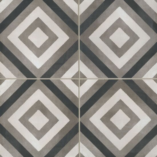 Chateau 12 X 12 Decorative Tile In Canvas Smoke And Midnight Decorative Tile Encaustic Tile Ceramic Wall Tiles