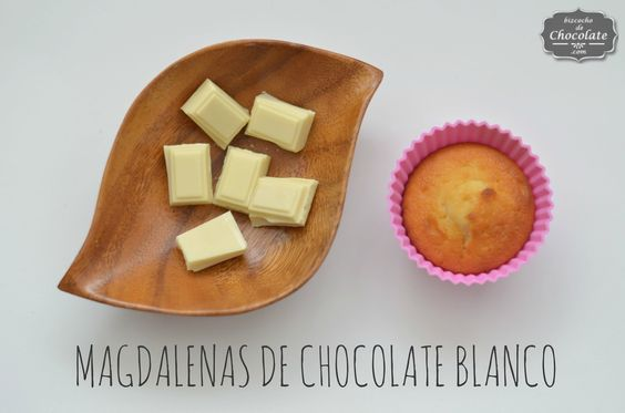 Magdalenas de chocolate blanco