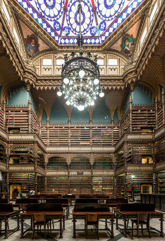 Real Gabinete Português de Leitura – Royal Portuguese Reading Room, Rio de Janeiro | Flickr - Photo Sharing!
