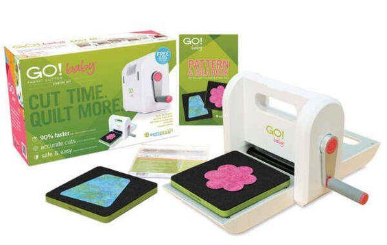 AccuQuilt GO BABY Starterset - Fabric Cutter Schneidemaschine 0699195556005 Die clevere