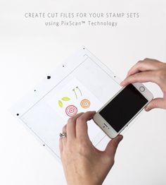 create cut files for stamp sets using Silhoutte PixScan Technology