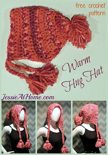 Warm Hug Hat ~ free crochet pattern by Jessie At Home: