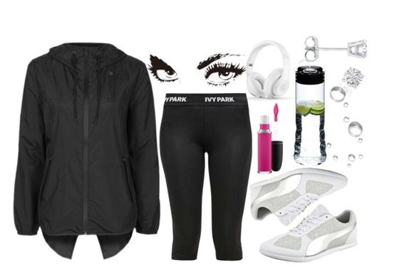 """""""Untitled #1073"""" by tiffy54 ❤ liked on Polyvore featuring Puma, Ivy Park, Topshop, MAC Cosmetics, Riedel and Amanda Rose Collection"""