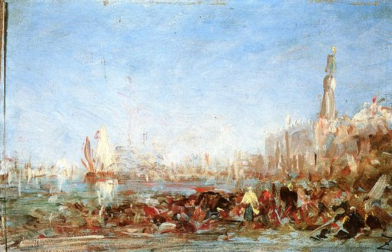 The Athenaeum - Venise, étude du quai des Esclavons (Felix-Francois-Georges-Philbert Ziem - )