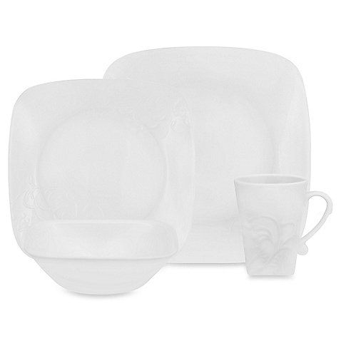 Corelle Boutique Cherish Embossed Square 16-Piece Dinnerware Set. This is another set that I really like. I would probably prefer these over the the round dishes. :)