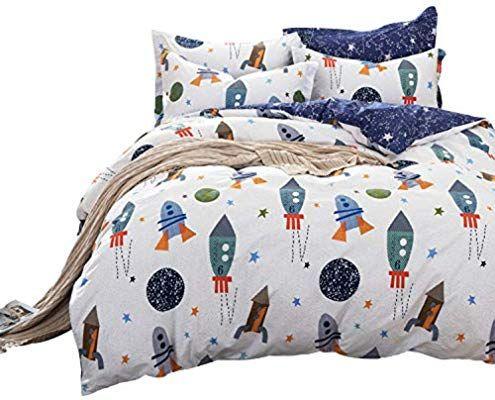 Brandream Boys Galaxy Space Bedding Set Kids Bedding Set Duvet Cover Full Queen Size Amazon Ca Home Kitch Twin Bed Sets Kids Bedding Sets Boys Bedding Sets Twin size bedding for boy