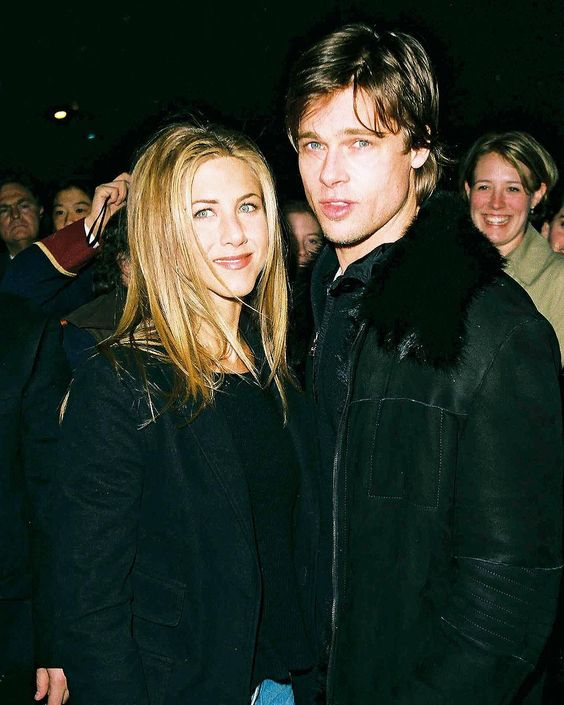 "Jennifer Aniston on Instagram: ""I miss the one to the left a lot right now. This is such a gorg picture though, I mean they truly were the best looking couple in…"""