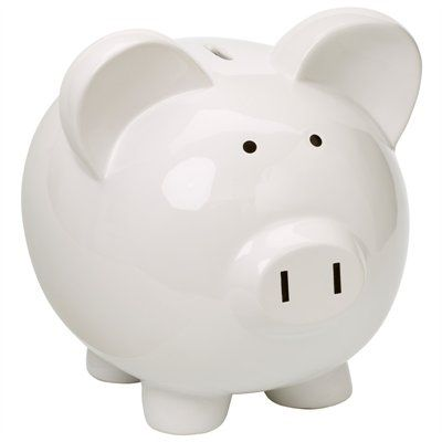 In stark white, this ceramic piggy bank is not only irresistibly stylish, its size encourages saving a lot of pennies making it the gift that keeps on giving   Shop Chapters Indigo with Ebates.ca and get Cash Back!