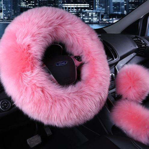 Lukecar Fluffy Car Steering Wheel Cover Car Gear Shift Fuzzy Steering Wheel Cover Car Steering Wheel Cover Steering Wheel Cover