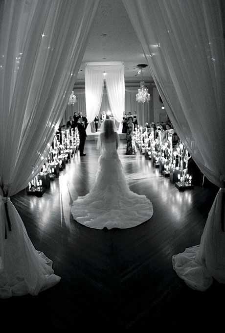 """The bride made a solo entrance to the song """"Someone Like You,"""" then met her parents midway down the aisle. Stephen Green Photography.: Wedding Ideas, Unique Wedding, Wedding Shot, Wedding Photo, Dream Wedding, Wedding Isle, Photo Idea, Future Wedding"""