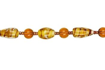 7.5 Glass Strand - Brown - Jewelry Basics Glass