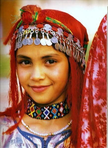 Moroccan girl. Berber traditions: