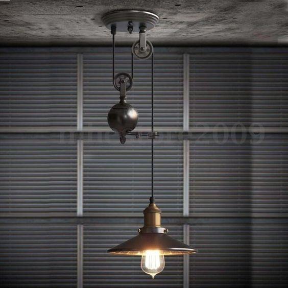 E27 Loft Industrial Vintage Iron Ceiling Pendant Lamp Light Chandelier Fixture | eBay