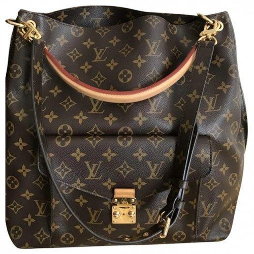 Pre Owned Louis Vuitton Metis Cloth Handbag Modesens Louis Vuitton Metis Handbag Outfit Louis Vuitton