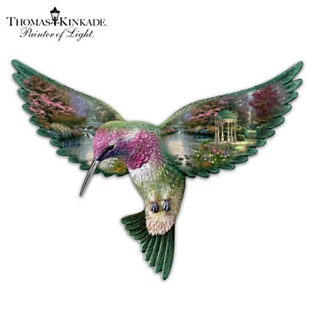 Thomas kinkade garden of prayer hummingbird sculpture for Hummingbird decor