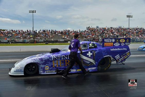 Jack Beckman & Team at Heartland Park Topeka for the Kansas National's in the Infinite Hero T/F F/C