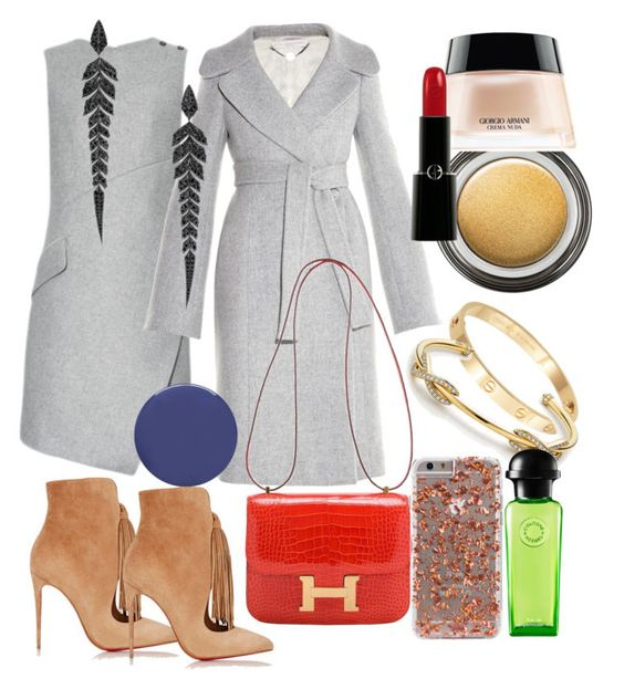 """""""Untitled #160"""" by pillespirit ❤ liked on Polyvore featuring Christian Louboutin, Carven, STELLA McCARTNEY, Hermès, Cachet, Tiffany & Co., Smith & Cult, Stephen Webster and Giorgio Armani"""