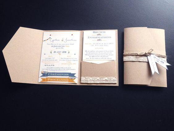 Vintage jaune doré Burlap /& dentelle mariage invitations personnalisées