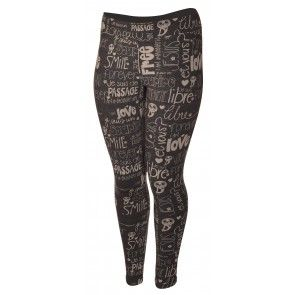 Leggings Pumpkin Flower de Message Factory - Imprimé Charcoal