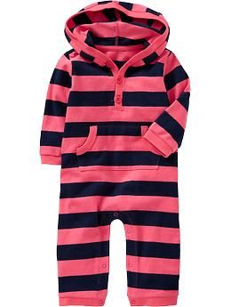 Striped Hooded One-Pieces for Baby | Old Navy