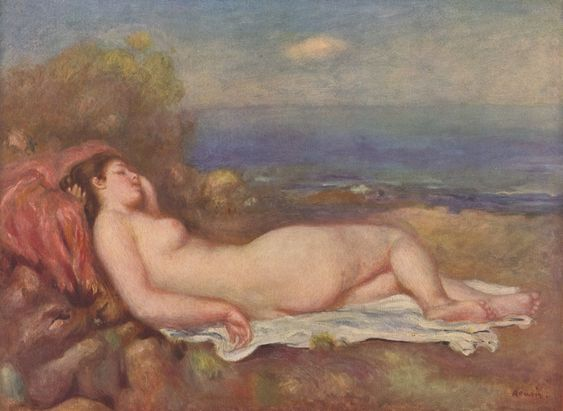 Renoir, Pierre-Auguste: Schlafende am Meer - Gemeinfrei