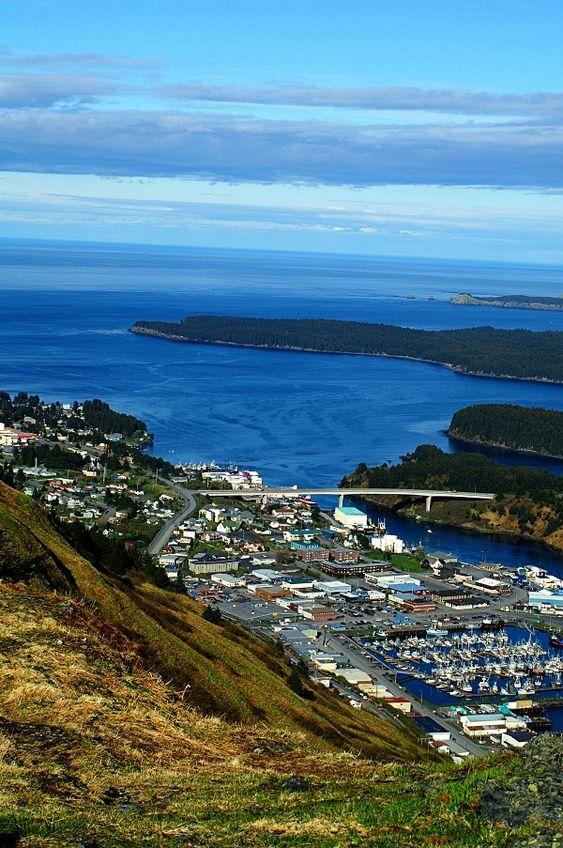 Kodiak Island City. The view off of Pillar Mountain. Photo by: Carrie Williams #kodiak #alaska