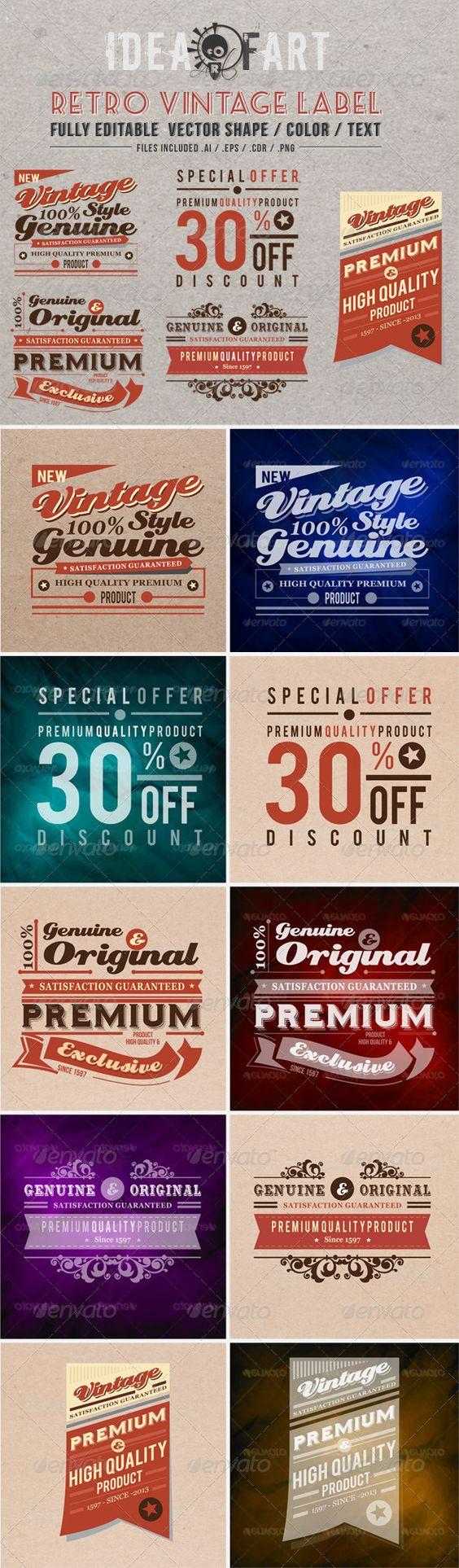 Retro Vintage Label - Badges & Stickers Web Elements