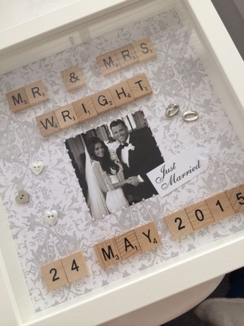 Wooden Tiles lsquo Scrabble Style rsquo Frame Frame measures 25cm x 25cm and is available in black white or natural wood Any colour background