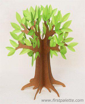 3D Paper Tree Craft | Kids' Crafts | FirstPalette.com