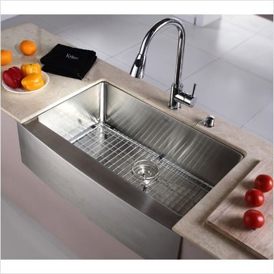 """33"""" apron stainless steel sink $440"""