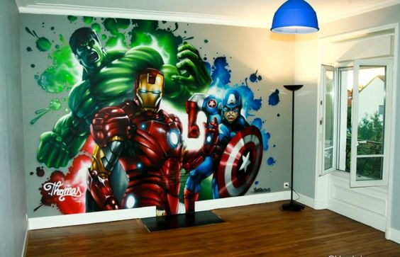 decoration chambre garcon super heros  Inspiration