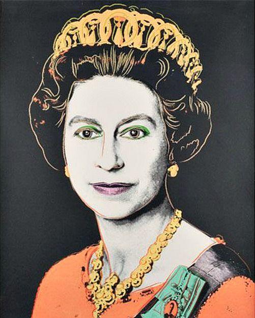 エリザベス女王  by アンディ・ウォーホル)