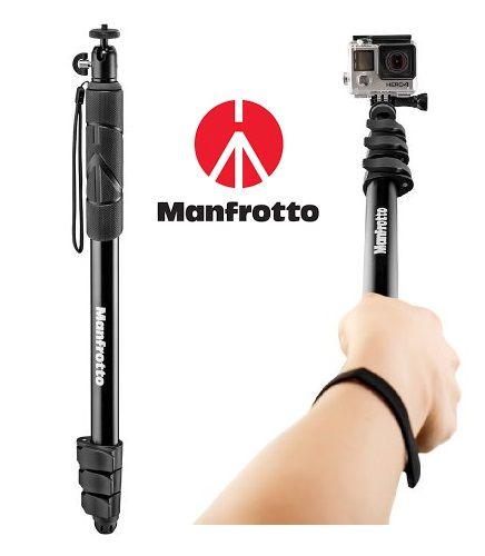 ¡Chollo! Monopié   Palo Selfie Manfrotto Compact Xtreme Black para cámaras compactas por 11.20 euros. 75% de descuento.