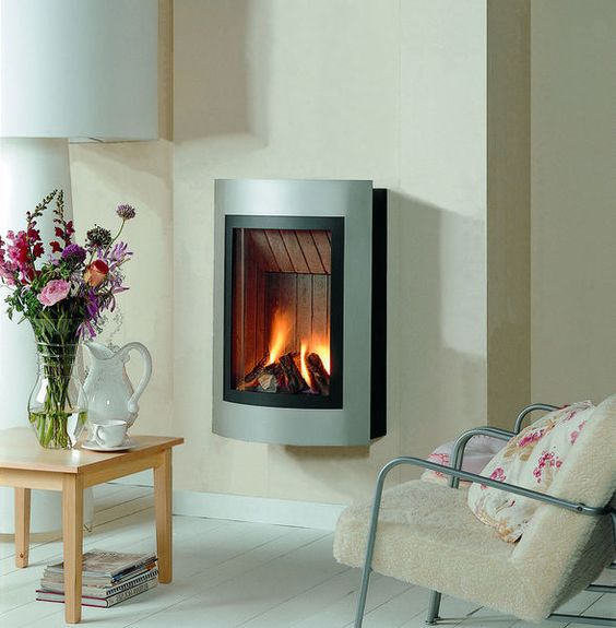 Contemporary wall mounted gas stove hi fire ligero thermocet bv gas stoves heaters - Contemporary wall mount fireplace ...
